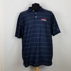 Liberty Flames Nike Golf Dri Fit Polo Sz XL